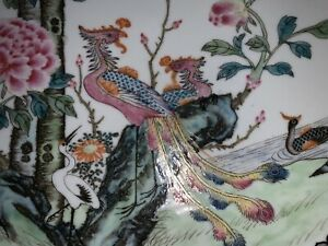 Fine Antique Chinese Early Republic Plate Qianlong Mark