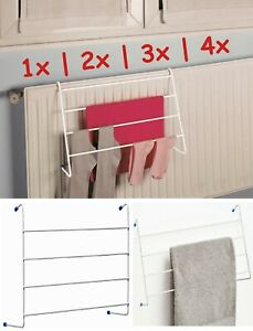 details about 4 tier over radiator airer towel clothes drying rack rail indoor laundry dryer