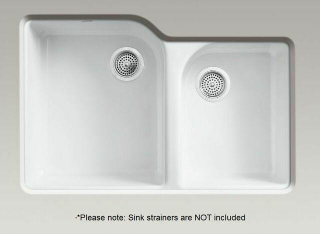 kohler k 5931 4u 0 executive chef undercounter kitchen sink white