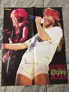 details zu guns n roses axl german magazine bravo poster 90 s 5 teile berichte article