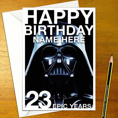 Darth Vader Personalised Birthday Card A5 Star Wars Disney Luke Skywalker Ebay