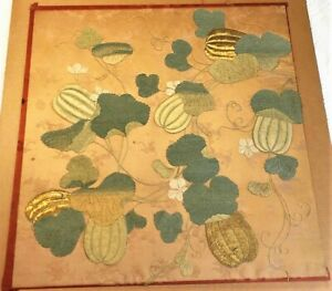 18th / 19thC CHINESE / JAPANESE SILK EMBROIDERED PANEL Fukusa