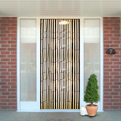 bamboo door screen curtain patio door wooden beaded blinds insect fly screen ebay
