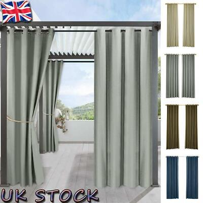 home patio curtains outdoor thermal insulated drapes stain garden decor blackout ebay