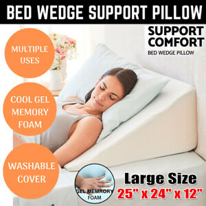 details about 12 large bed wedge pillow leg elevated back support cushion acid reflux sleeping