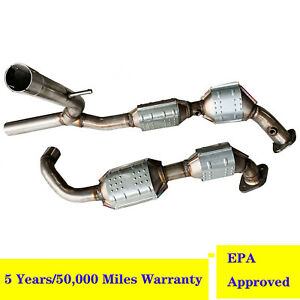 details about for 04 06 ford f150 lincoln mark lt 5 4l 4wd catalytic converter exhaust y pipe