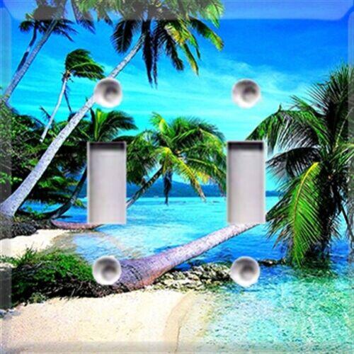 diy materials tropical palm trees beach themed light switch plate cover choose your cover home furniture diy quatrok com br
