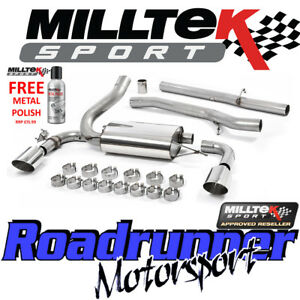 details about milltek performance exhaust system focus rs mk3 stainless cat back 3 non res