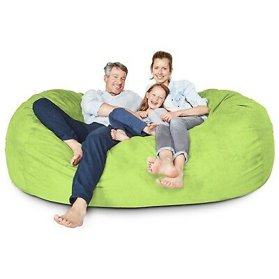 bean bag giant floor pillow gaming chair relax seat chill sack light green couch ebay