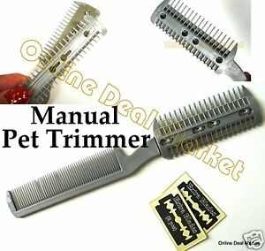 silver pet dog cat hair trimmer b razor cutting grooming cut trimming manual