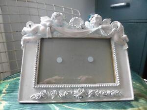 details sur ancien cadre photo anges angelot retro vintage
