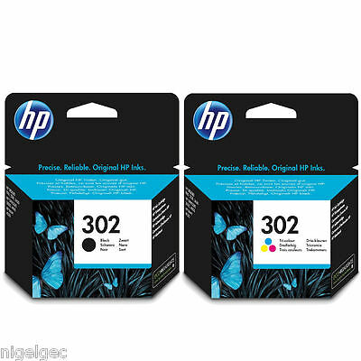 Hp 302 Black And Colour Ink Cartridge Original For