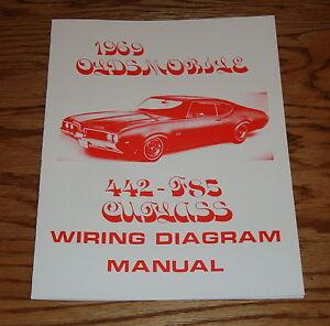 1969 Oldsmobile Cutlass 442  F85 Wiring Diagram Manual 69