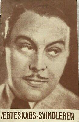 Heiratsschwindler Eduard Von Winterstein 1938 Vtg Old Danish Movie