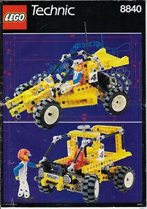 details sur lego notice de montage lego technic n 8840 annee 1990 ref 6095