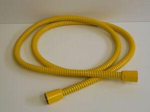 details sur tuyau de douche metal jaune ral 1023 flexible metalliques douchette