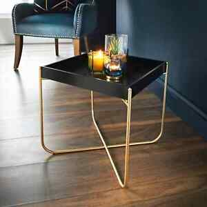 details about tray table gold legs black tray coffee table with removable tray top