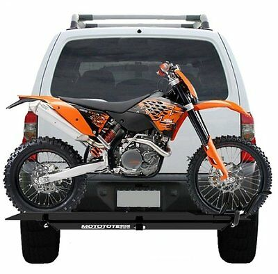 mototote moto tote dirt bike motorcycle carrier hitch hauler rack ramp ebay