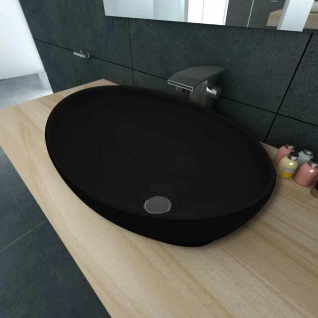 Vidaxl 140674 40x30 Cm Vasque A Poser En Forme Ovale Blanc Achetez Sur Ebay