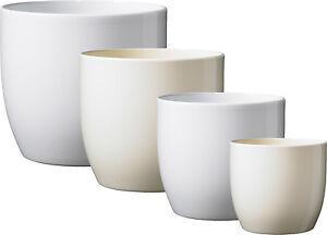 details sur cache pot bale en ceramique plusieurs tailles blanc vanille fabrique