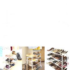 whitmor 4tier 20 pair floor shoe rack stand storage organize sneaker heels shoes