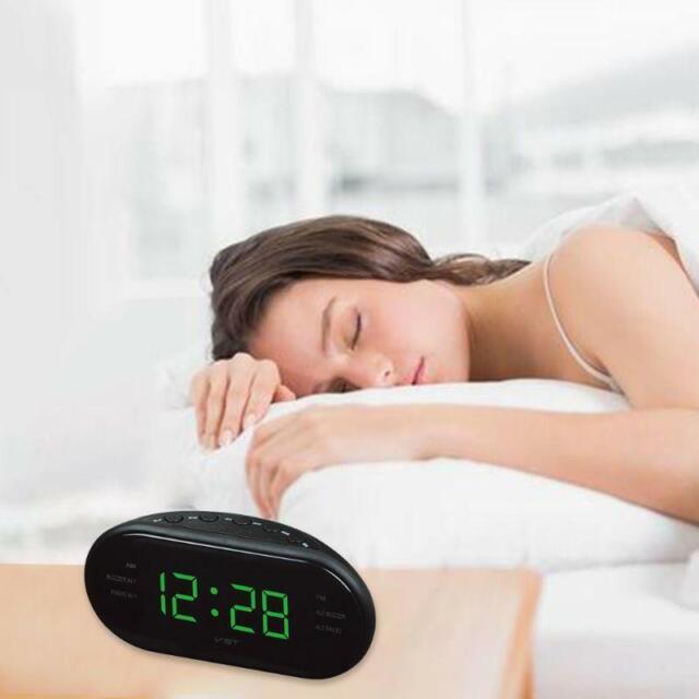 Am Fm 0 6 Inch Green Led Clock Radio