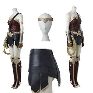 Vestido De Fiesta Mujer Maravilla de princesa Diana Cosplay Disfraz Traje Completo Accesorios