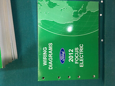 brand new 2012 ford focus electric wiring diagram dealer shop service  manual  ebay