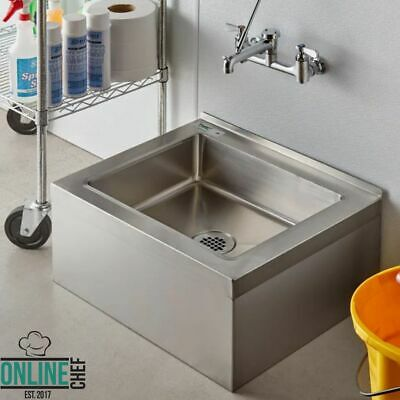 25 stainless steel nsf one compartment floor mop sink 20 x 16 x 6 bowl nsf ebay