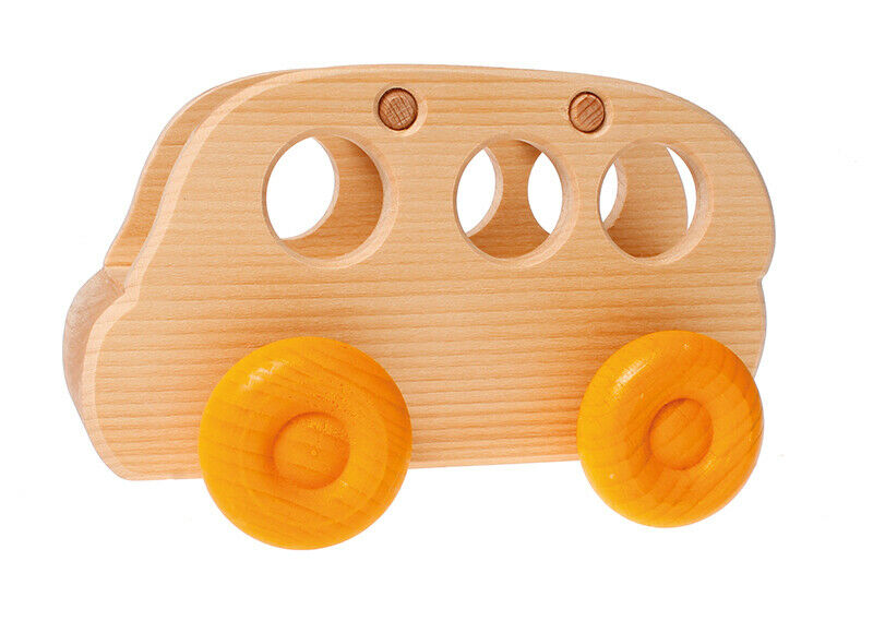 Grimm's Game and Wood Design 09480 Omnibus Nature with Colorful Wheels