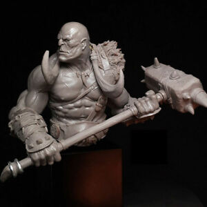 details about 1 10 scale orcish bust model kits figurine unpainted resin unassembled no base