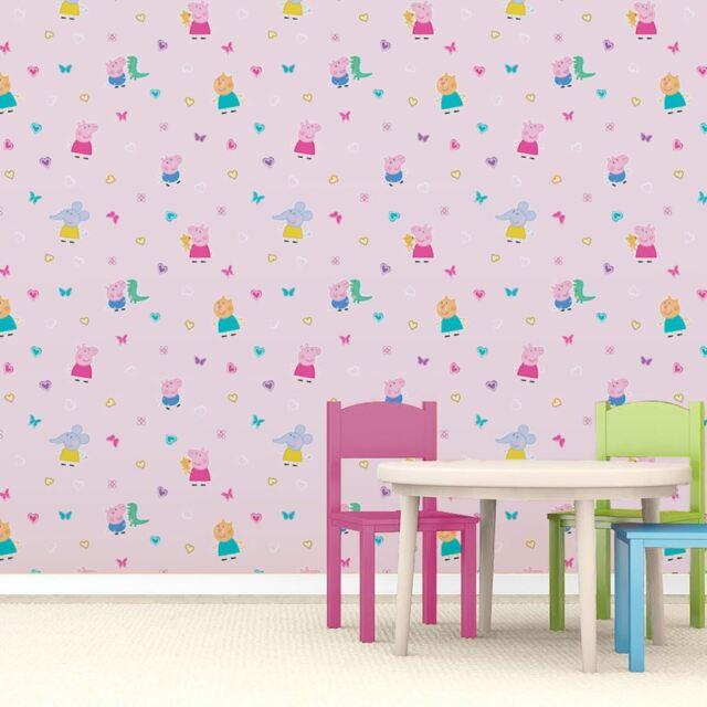 rose enfants papier peint