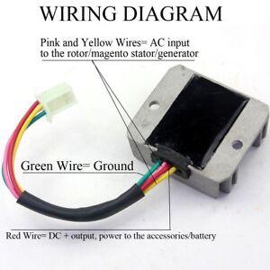 4 Wire Male Plug Voltage Regulator Rectifier For ATV Dirt