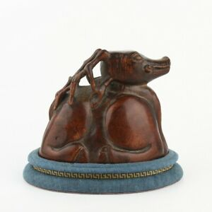Antique Chinese Collection Agarwood Deer Statue