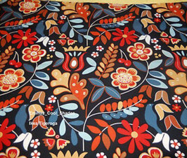 Image Is Loading New Handmade Lampshade Ikea Tigeroga Fabric Retro Vintage