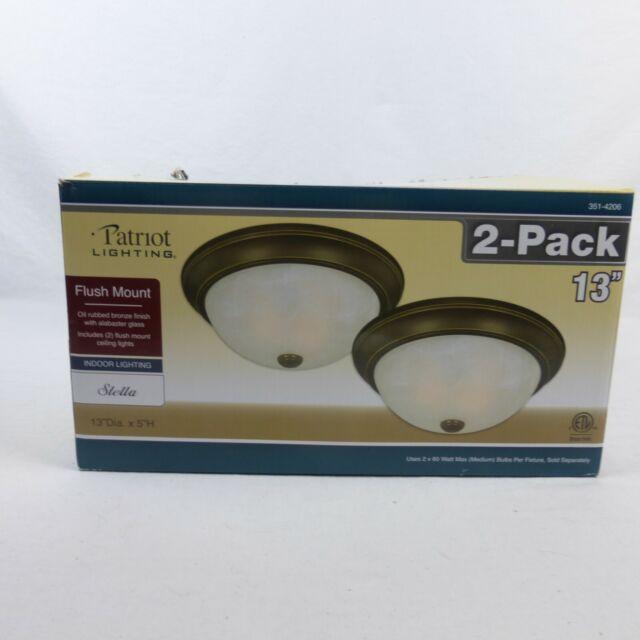 patriot lighting brushed nickel finish flush mount 13 ceiling lights twin pack