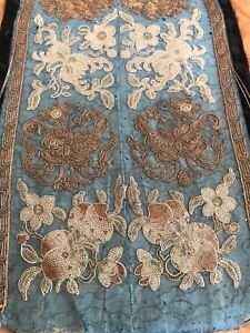 Antique Chinese Qing Imperial Silk Robe Fragment