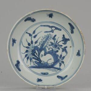 Antique Chinese Porcelain Wanli Jiajing Ming Hare Rabbit 1540-1580 China...