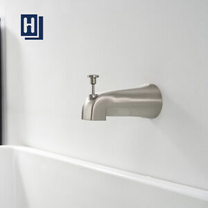 details about tub diverter spout bathroom shower bathtub faucet wall mounted brushed nickel