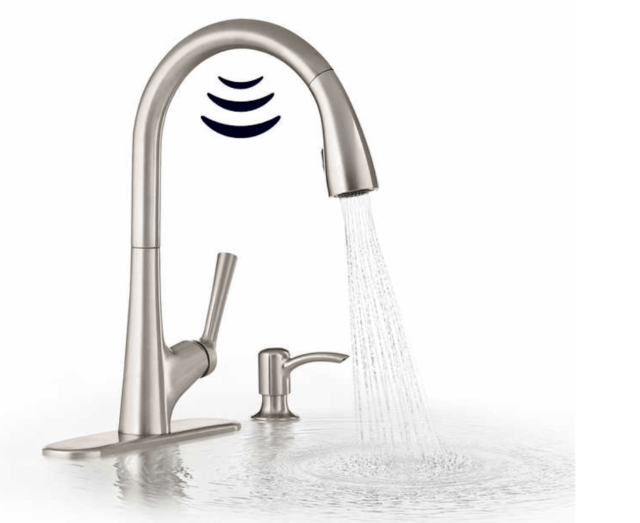 kohler malleco touchless pull down kitchen faucet with soap dispenser