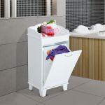Laundry Hamper Tilt Out Cabinet Hidden Linen Storage Furniture Clothes Bathroom For Sale Online Ebay