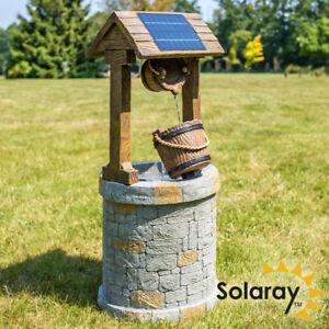 details sur fontaine solaire puit a souhait cascade traditionnelle seaux decoration jardin