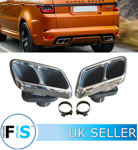 details about range rover sport l494 facelift svr stainless steel exhaust tips tail pipes