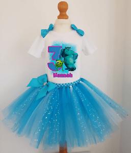 Girls Personalised Monster Inc Birthday Tutu Dress Outfit Christmas Costume Ebay