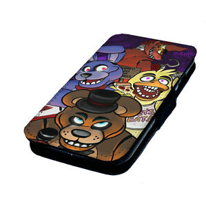 Five Nights at Freddy s Fan Art  Printed Faux Leather Flip Phone     Image is loading Five Nights at Freddy 039 s Fan Art
