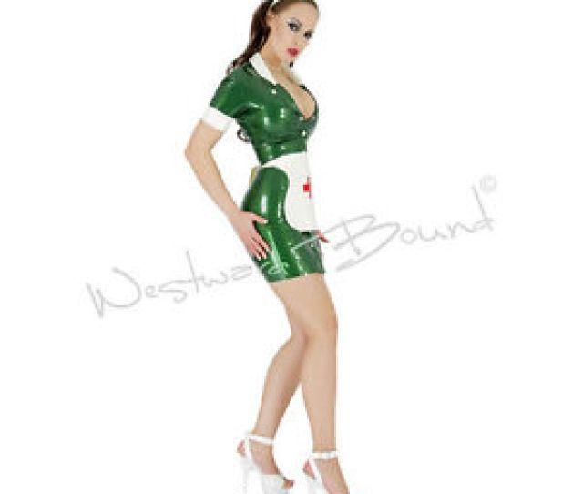 X615 Ps Green 14 Latex Nurse Dress Cap