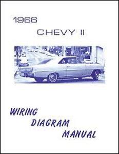 1966 Chevrolet Chevy II Wiring Diagram Manual   eBay