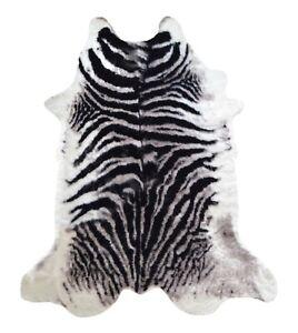 details sur tapis imitation peau bete zebre noir et blanc fausse fourrure chambre salon