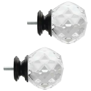 Home Decorators Collection Faceted Crystal Sphere Finials ...