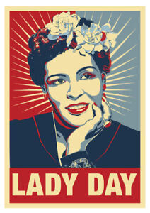 details about billie holiday lady day blues jazz singer poster 7th in series